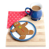 Gingerbread Snack Tray Royalty Free Stock Photography