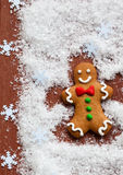 Gingerbread Snow Angel Stock Image
