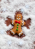 Gingerbread Snow Angel Royalty Free Stock Images