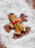 Gingerbread Snow Angel Stock Photography