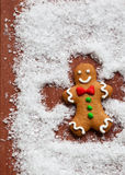 Gingerbread Snow Angel Royalty Free Stock Image