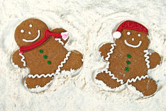 Gingerbread snow angels Royalty Free Stock Photos