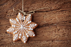 Gingerbread snowflake Stock Images