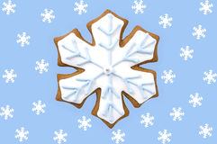 Gingerbread snowflake cookie Royalty Free Stock Photo