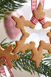 Gingerbread snowflake cookies Stock Photography