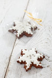 Gingerbread snowflakes Royalty Free Stock Image