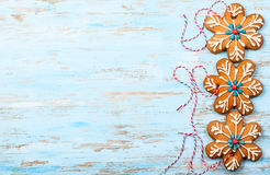 Gingerbread snowflakes Stock Image