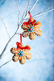 Gingerbread snowflakes Royalty Free Stock Photo
