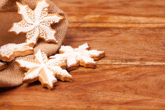 Gingerbread snowflakes Royalty Free Stock Photos