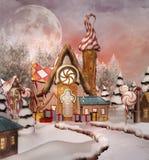 Gingerbread Snowy Village