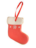 Gingerbread sock isolated on white background Royalty Free Stock Image
