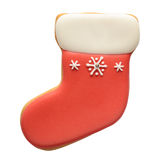 Gingerbread sock isolated on white background Royalty Free Stock Photo
