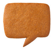 Gingerbread Speech Bubble Cookie Royalty Free Stock Image