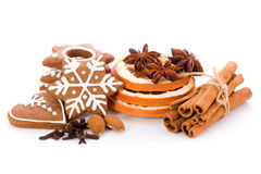 Gingerbread with spices. Homemade Christmas cookies - gingerbread with spices Royalty Free Stock Photography