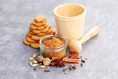 Gingerbread spices Stock Images