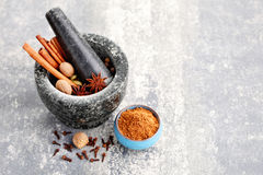 Gingerbread spices Stock Photo
