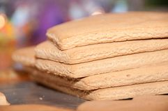 Gingerbread stack Stock Photography