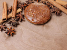 Gingerbread with star anise Stock Photography