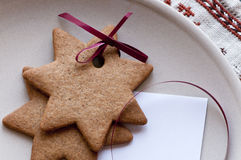 Gingerbread star cookie Royalty Free Stock Photography