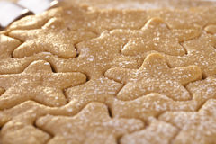Gingerbread  star cookie cuts doug Royalty Free Stock Photos