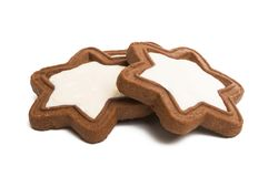 gingerbread star cookie isolated royalty free stock photography