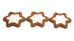 gingerbread star cookie isolated royalty free stock photo