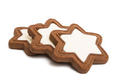 gingerbread star cookie isolated stock photos