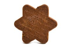 gingerbread star cookie isolated stock photo