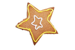 Gingerbread Star cookie. Royalty Free Stock Image