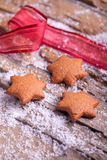 Gingerbread star cookies Royalty Free Stock Images