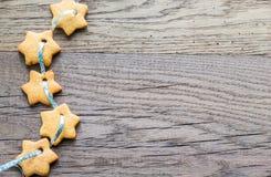 Gingerbread star garland Royalty Free Stock Image