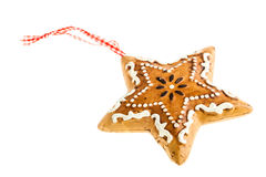 Gingerbread star Stock Image