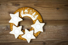 Gingerbread stars Stock Photos