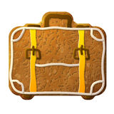 Gingerbread suitcase decorated colored icing Stock Photo