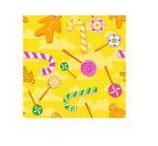 Gingerbread and sweets vector illustreation pattern stock illustration