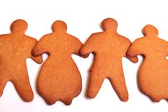 Gingerbread Team - Male and Female Stock Photos
