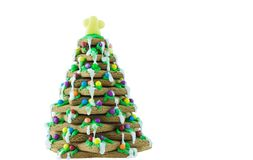 Gingerbread Tree. Isolated on a white background Stock Image