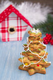 Gingerbread tree Stock Images