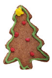 Gingerbread tree Christmas cookie. Royalty Free Stock Photos