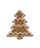 Gingerbread Tree Christmas Cookie Royalty Free Stock Photo