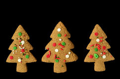 Gingerbread tree cookies Royalty Free Stock Photo