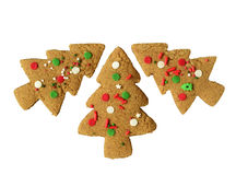 Gingerbread tree cookies Royalty Free Stock Images