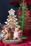 Gingerbread Tree Decoration. Gingerbread and gingerbread people christmas decoration Royalty Free Stock Images