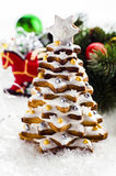Gingerbread  tree. Gingerbread new year type-setting tree Stock Image