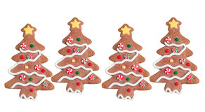 Gingerbread trees royalty free stock image