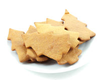 Gingerbread trees royalty free stock photography