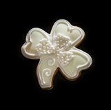 Gingerbread trefoil on the dark background, Christmas theme Royalty Free Stock Images