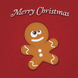 Gingerbread. Vector illustration of a cute gingerbread man Stock Image