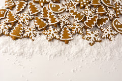 Gingerbread on the white background stock photo