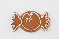 Gingerbread on white backround royalty free stock photography